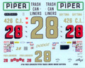 309 #28 Piper Trash Can Liners 1969 Fred Lorenzen