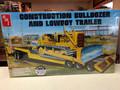 1218 Construction Bulldozer and Lowboy Trailer