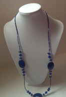 Stone and Seed Bead Necklace Set