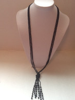 Seed Bead Long Tassel Necklace