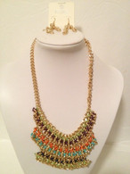 Gold Threaded Statement Necklace