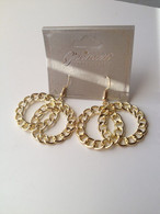 Double Circle Link Earrings