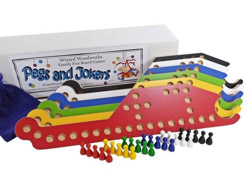 Pegs and Jokers Complete 6-player game set