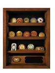KF-SB700B, SHADOWBOX W/COIN HOLDERS