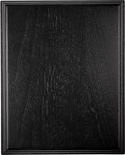 Genuine walnut plaque with black lacquer finish, classical edge