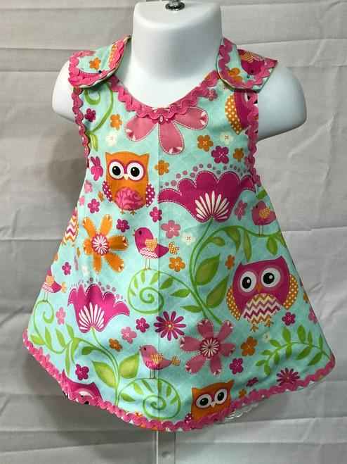 OWL PRINT DRESS FRONT