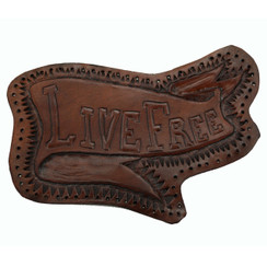 Live Free Leather Motorcycle Patch