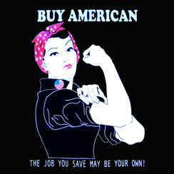 Rosie -Buy American Mens T-shirt