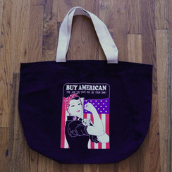 Rosie -Buy American Canvas Carry-all Tote bag