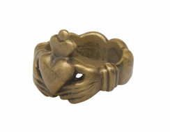 Solid Brass Mens Claddagh Ring