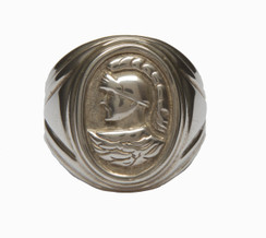 Mens Sterling Silver Roman Coin Ring
