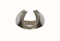 Mens Sterling Silver Horseshoe Ring