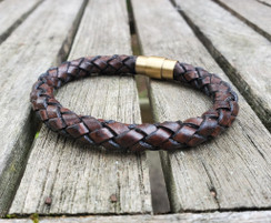 Tubular Braided Leather Bracelet