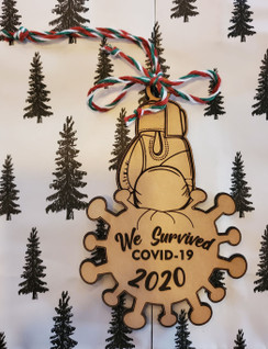 We Survived Covid-19 Christmas Ornament