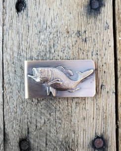 Large Large Mouth Bass Money clip