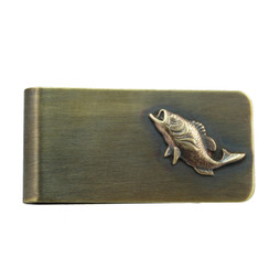 Small Large Mouth Bass Money Clip