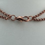Copper faceted pendant closure