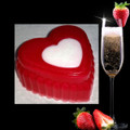 Strawberries & Champagne Heart