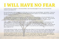 I Will Have No Fear Prayer Cards (pack of 25)