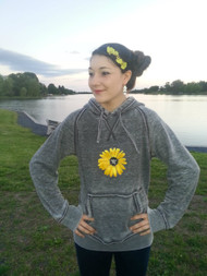 Women's Sunflower Zen Fleece Sweatshirt