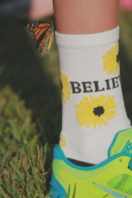Girls Performance Sunflower Socks