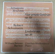 REIMER, WILLIAM & GUNTHER WEISSENBORN - Brahms / Schumann