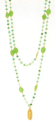 Chrysoprase Goddess Necklace