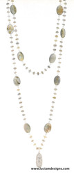 Laborite and Moonstone Goddess Necklace