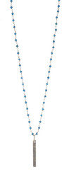 Om Mantra Pendant With Turquoise Rosary Chain