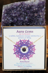Amethyst Aura Gem Necklace