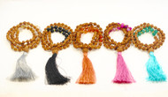 Rudraksha and Agate Mala with Tassel