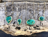 Malachite Celestial Pendants