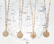 Vintage gold filled zodiac pendants