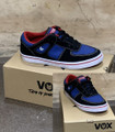 This is a high quality VOX Veyron Model in the Black / True Blue colorway with red trim. It has a vulcanized. This skate shoe is in Youth Size 13. Its Vulcanized for maximize grip on your board. Don't miss out on this clearance price. *****There might be slight discoloration from shoes that were on display in the shop!*****