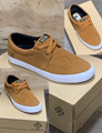 This is a high quality VOX Pat Duffy Plan B Collabo Pro Model in the Camel White colorway with White vulc soles. Its in size 7 ONLY. Its Vulcanized for maximize grip on your board. Plan B Pro Pat Duffy has always designed really clean footwear so Don't miss out on this clearance price. *****There might be slight discoloration from shoes that were on display in the shop!*****