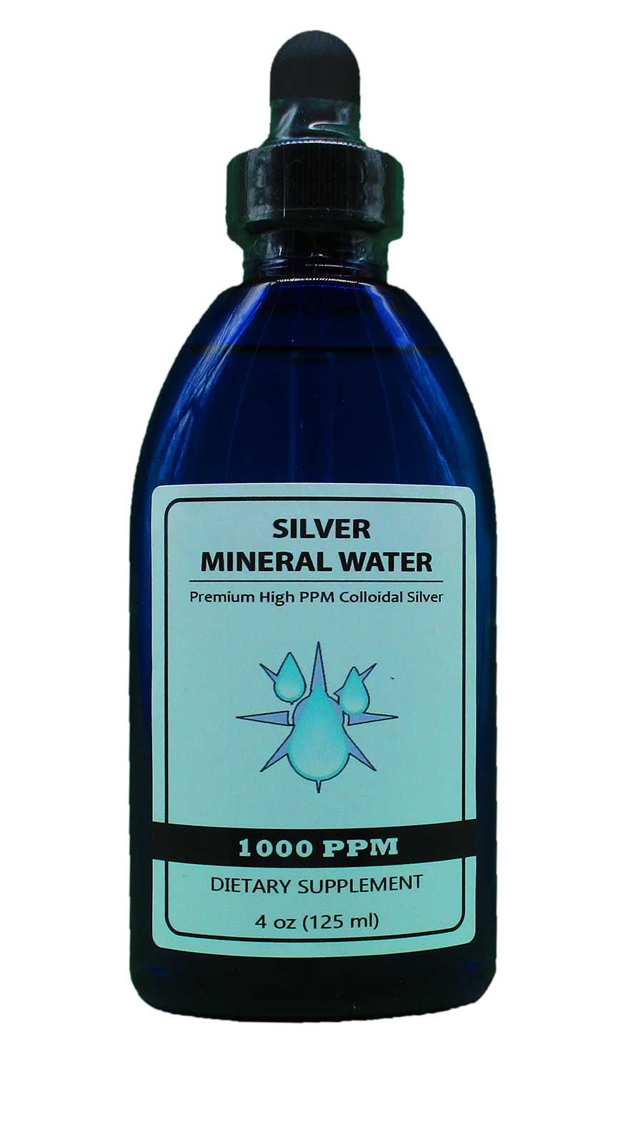 1,000 PPM Colloidal Silver 4 oz bottle w/dropper