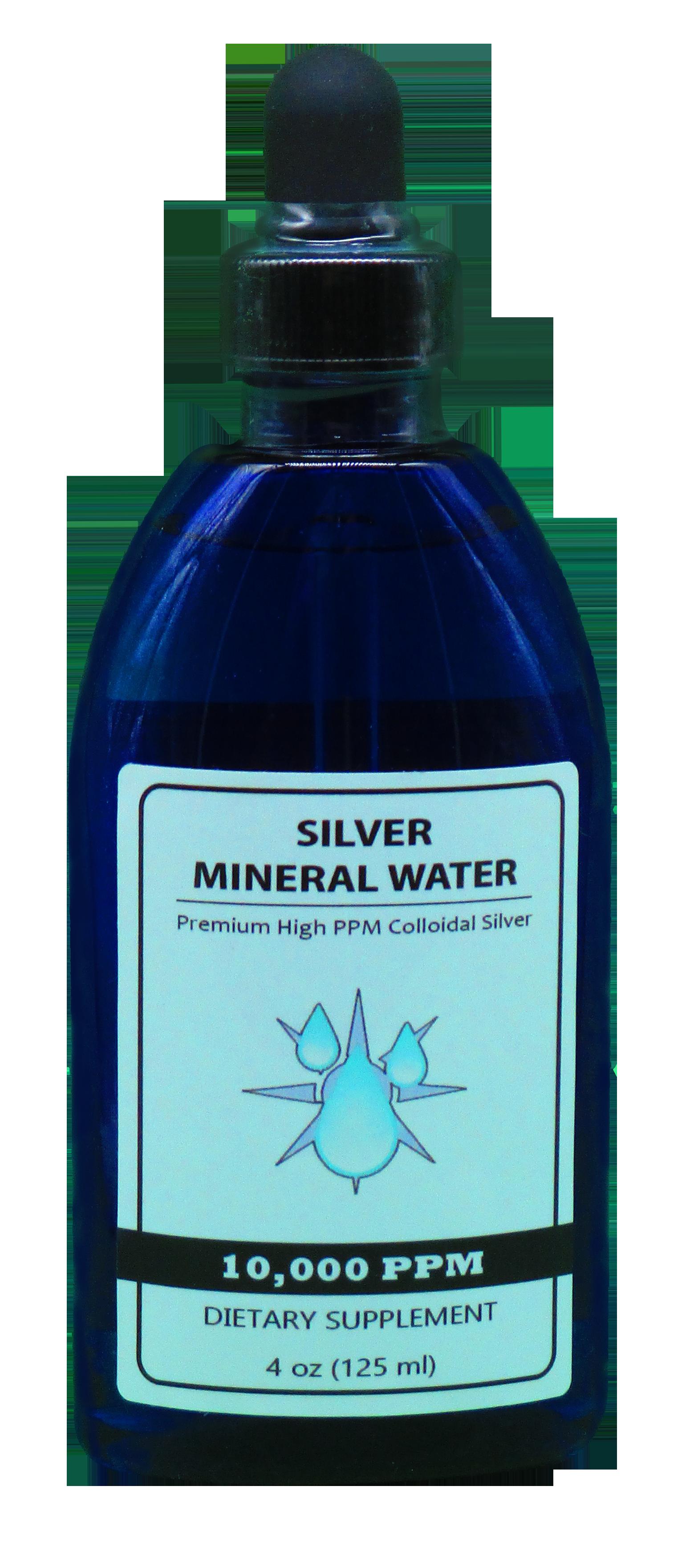 10000 PPM colloidal silver in a-4-oz bottle