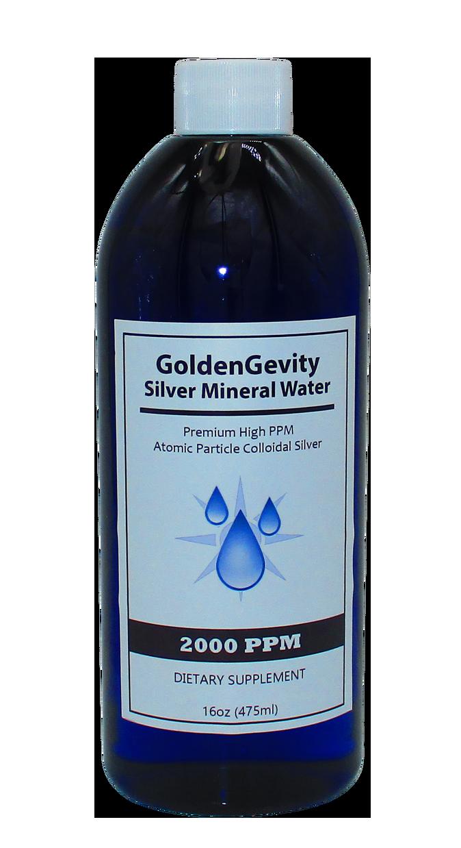 Colloidal Silver 2000 PPM in a 16 oz Pet Bottle