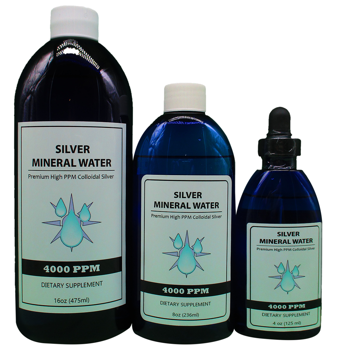 Colloidal Silver 4000 PPM 16, 8 and 4 Ounce bottles