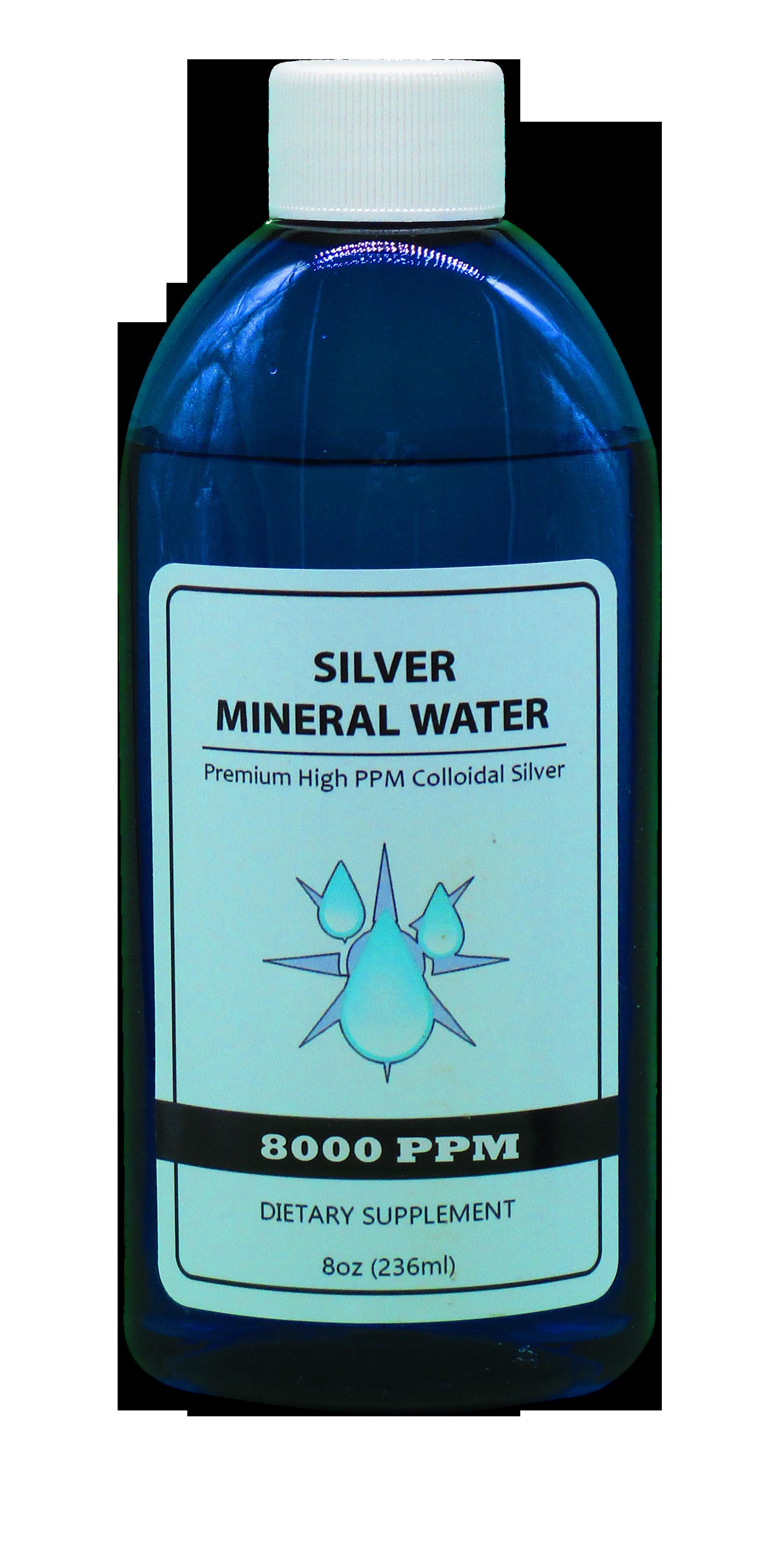 Colloidal Silver 8000 PPM in an 8 Ounce Bottle