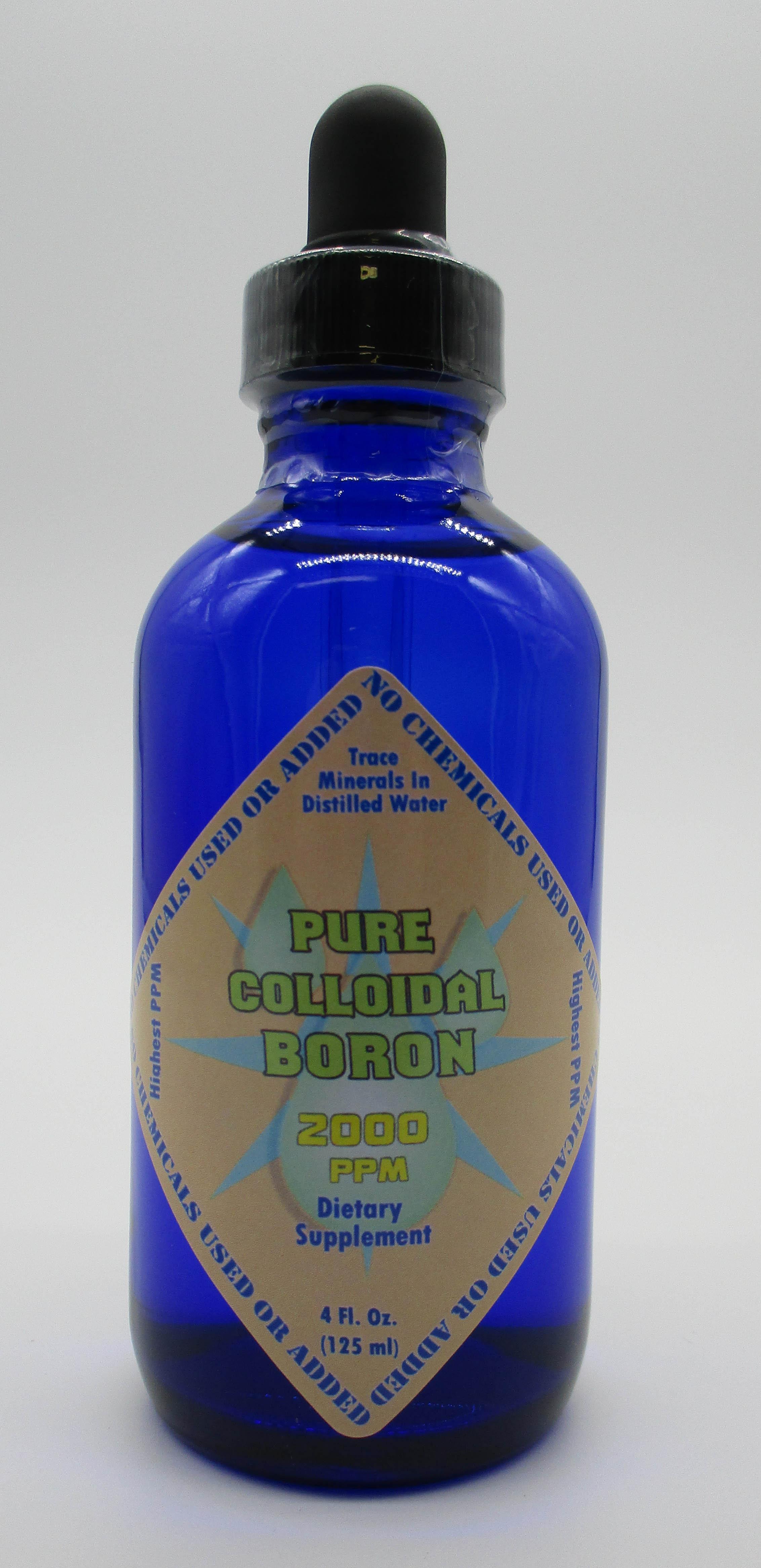 Pure Colloidal Boron 2000 PPM for Brain Detox