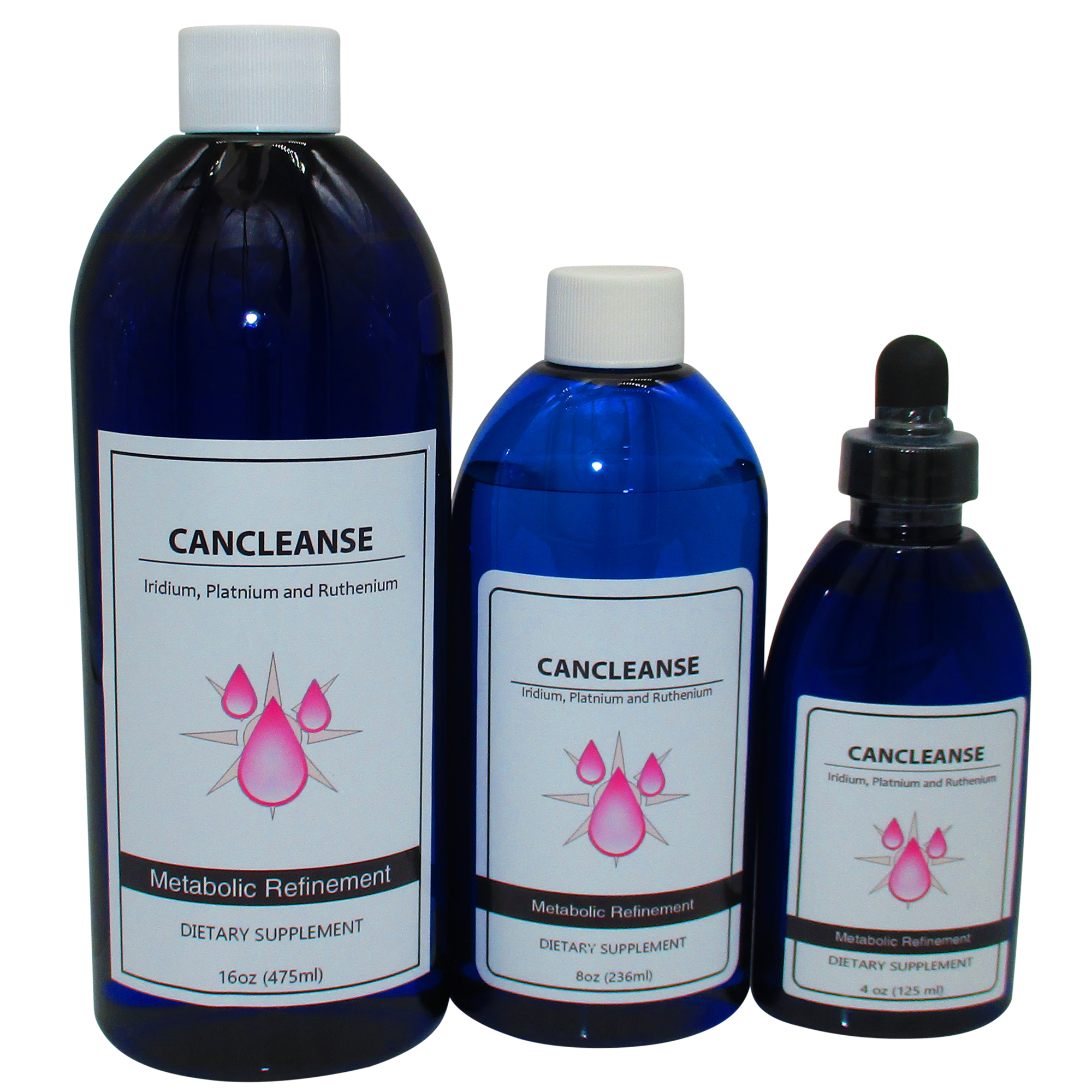 CanCleanse bottles 4, 8 and 16 ounce
