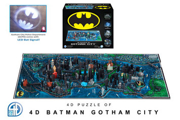 Gotham City 4D Map Puzzle