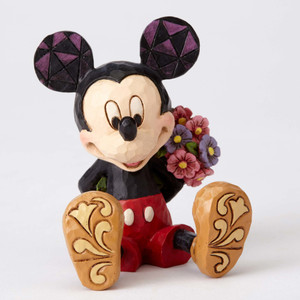 Mini Mickey Mouse w/ Flowers Figure