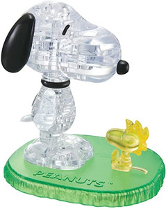Snoopy with Woodstock 3D Crystal Puzzle