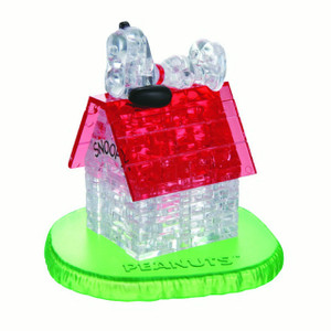 Snoopy and Doghouse 3D Crystal Puzzle