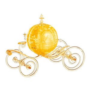 Cinderella's Carriage (Gold) 3D Deluxe Crystal Puzzle