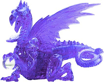Purple Dragon 3D Deluxe Crystal Puzzle