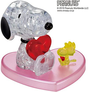 Snoopy with Heart 3D Crystal Puzzle