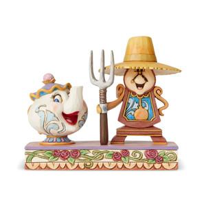 Cogsworth and Mrs. Potts Figurine
